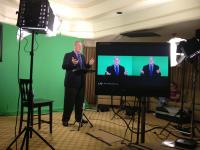 Dr. Paul Meier, MD presenting to the cameras.